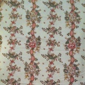 Vintage Laura Ashley Garlands Fabric 1 1/2 yards